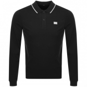 Product Image for CP Company Long Sleeved Polo T Shirt Black